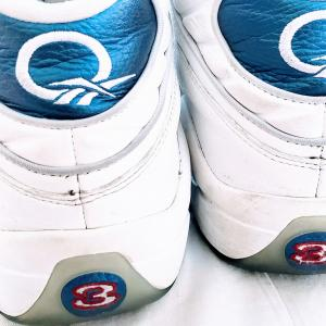 Photo of Reebok Classics Question Mid Double Cross Allen Iverson Blue Red