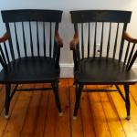 Nicholas and Stone arm chairs. Vintage
