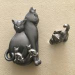 Pewter Cat 5-Piece Jewelry Set