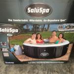 inflatable jet tub.
