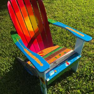 Photo of Painted Adirondack Chair