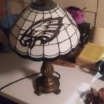 Ravens Tiffany Art Glass Table Lamp