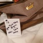 Two Tone Brown & Gold Purse