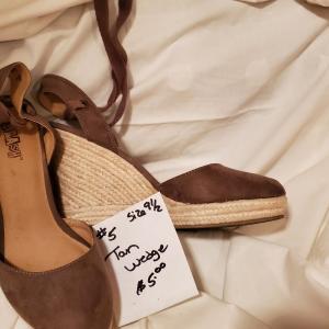 Photo of Tan Wedge Sandal