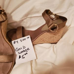 Photo of Gold Wedge Sandal