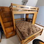 Canyon Twin/Full Size Wood Bunk Bed