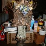 Angelon Pedestal Holding Flowers