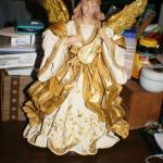 White with Gold Sash and Musical Instrument Angel
