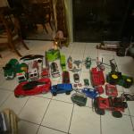 Toys, Batman Cave, Castle, Fire trucks, Bike
