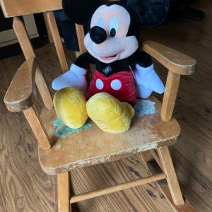 Photo of Antique vintage child's rocker with music box