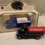 Vintage Chevron oil trucks