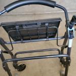 Rollator walker w/ski feet
