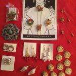 J#416 - Earrings (pierced), Sand Dollar pendants, etc.