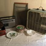 LR#396 - Radio, fan, vintage screen, combos, tin & misc.