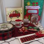 RED PICKUP CHRISTMAS DECOR, ALL NEW, Priced Separately