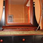 Kincaid Black and Cherry Dresser with Mirror and Jewelry Tray