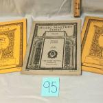 3 Pianoforte Sheet Music Books