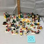 Ceramic Christmas Village Accessories