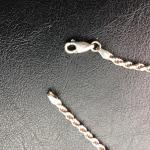 "Sterling .925 Rope Chain 17"" Necklace"