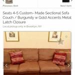 Moving ESTATE SALE- 4-5 Seater CUSTOM COUCH