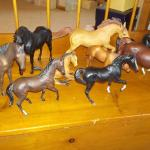 9 Horses made of solid gas.