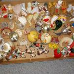 SANTA'S 2ND BOX OF XMASS ORNAMENTS.