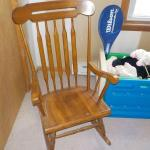 2 nd. Rocker / Maple chair with high back.
