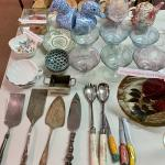 MOVING ESTATE SALE: SERVING PLATTERS/BOWLS/ GLASS /CERAMICS