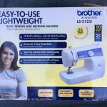 BROTHER LS-2125i Lightweight Sewing and Mending Machine with Box and Manuals