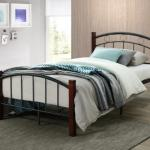 Morley Bronze twin bed frame