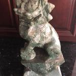 Antique Stone/Marble Large Foo Dogs/Guardian Lions
