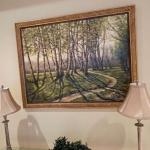 Beautiful birch tree painting