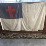 "Large Red Cross Flag - 58"" x 95 1/2"""