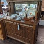 Antique Tiger Oak Buffet Only