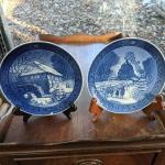 Blue willow type collector plates