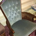Wood High Back Accent Chair