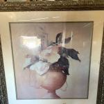 Large floral 4.5' x 3.5' feet framed art / was $1,200