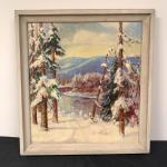 Lot 183 - Winter Scene Painting