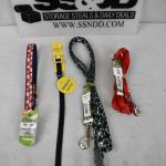 "Small Dog Collars/Leashes: 12-18"" Red/White/Blue, Black for small dogs, Black w/"