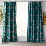 Tropical Toile Room Darkening Curtain Panel Pair by Drew Barrymore Flower - New