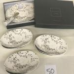 Lot 50 Salt & Earth by Magenta Cheese Board/Knife Gift Set + 6 Snack Plates