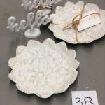 Lot 38 Pair of Jewelry Trinket Trays & Pair of Hello Stands