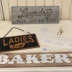 Lot 46 Bakery, Laundry, Ladies/Gentleman, Flea Market Signs