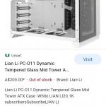 Computer tower. Lian li pc0-11 dynamic tempered glass