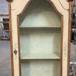 LOT#33: Small Painted Secretary with Cupboard