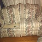 Pair of Cochrane Loveseats in Floral Fabric