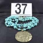 LOT#37: Believed to be Turquoise Costume Necklace