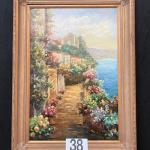 LOT#38: Impressionist Style Oil on Canvas