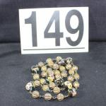 LOT#149: Marked Silver Cloisonne Necklace