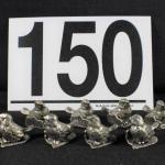 LOT#150: Marked Metzke 1975 Pewter Dinner Card Holders